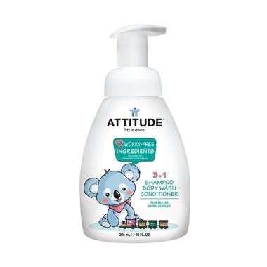 Attitude, 3 w 1 dla dzieci płyn do mycia szampon odżywka Gruszkowy Nektar (Pear Nectar) 300 ml