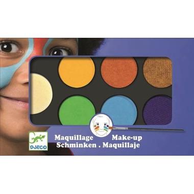 Djeco,  Farby do malowania twarzy NATURE - 6 kolorów