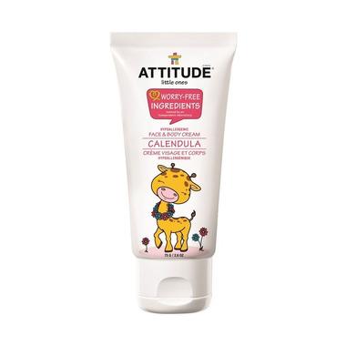 Attitude, Krem dla dzieci do twarzy i ciała nagietkowy (Calendula) 75 gr