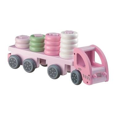 Kids Concept, Ciężarówka z Klockami Pink