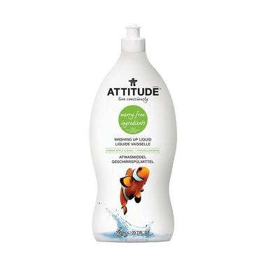 Attitude, Płyn do mycia naczyń Zielone Jabłuszko i Bazylia (Green Apple & Basil) 700 ml