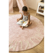 Lorena Canals, Dywan do prania w pralce Round ABC Vintage Nude - Natural