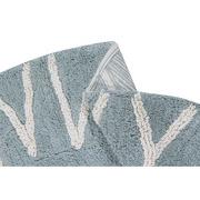 Lorena Canals, Dywan do prania w pralce Round ABC Vintage Azul - Natural