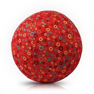 Bubabloon, piłka Balonowa Circles Red