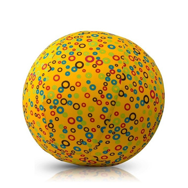 Bubabloon, piłka Balonowa Circles Yellow