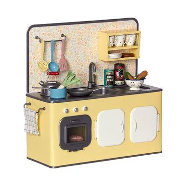 Maileg, metalowa kuchnia retro z wyposażeniem