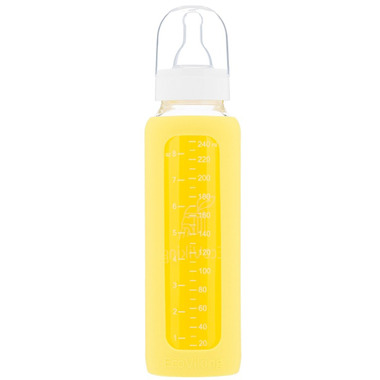 Eco Viking,  Antykolkowa Butelka Szklana  240 ml Yellow
