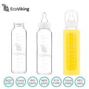 Eco Viking,  Antykolkowa Butelka Szklana  240 ml Yellow