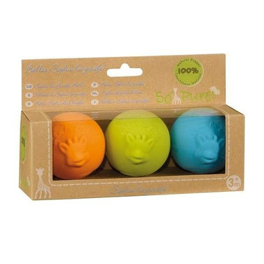 Kolorowe piłki So'Pure - Żyrafa Sophie