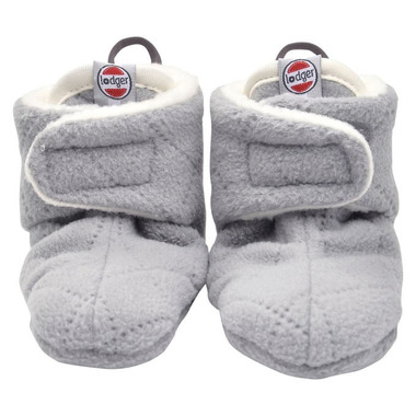 Lodger, Buciki polarowe Slipper Fleece Scandinavian Greige 3-6 m