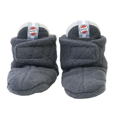 Lodger, Buciki polarowe Slipper Fleece Scandinavian Coal 6-12m