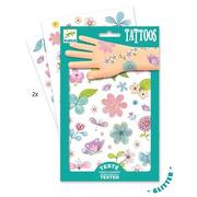 Djeco, Tatuaże brokatowe KWIATY