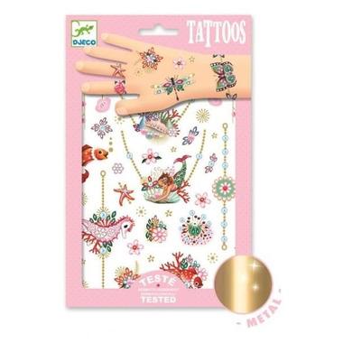 Djeco, Tatuaże metaliczne KLEJNOTY FIONY