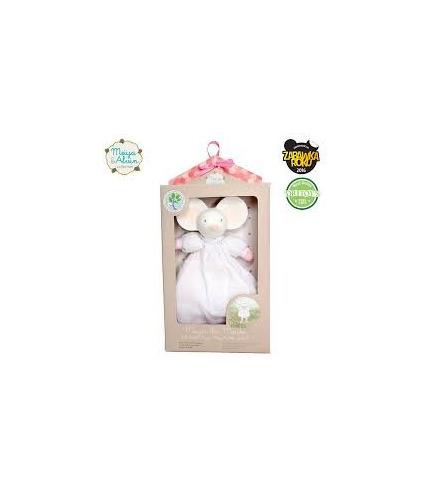 Meiya & Alvin, Miękka lalka grzechotka z Organicznym Gryzakiem
