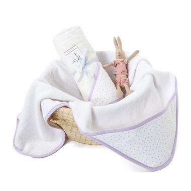ColorStories, Ręcznik z kapturem Lavender Dots