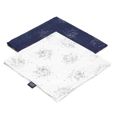La Millou, 2 pack pieluszka 100% Bamboo Muślin - Cnofetti white & Confetti Navy