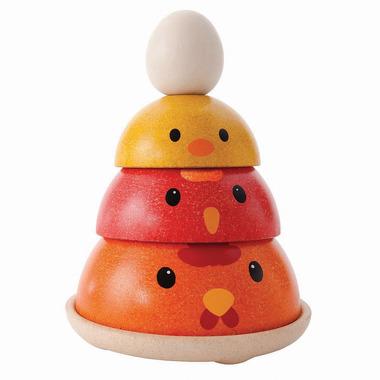 Plan Toys, Wieża do układania kurczak