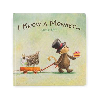 """Jellycat, książeczka """"I know a monkey"""""""