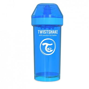 Twistshake, Kubek niekapek z mikserem do owoców, niebieski 360ml