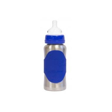 Pacific Baby, Butelka ze smoczkiem GroGrow 300 ml Silver Blue