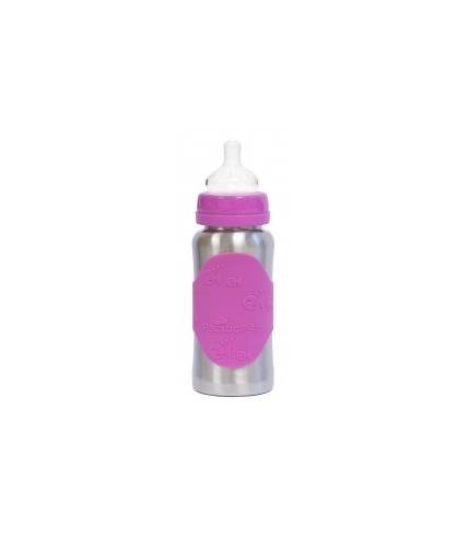 Pacific Baby, Butelka ze smoczkiem GroGrow 300 ml Silver Pink