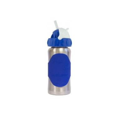 Pacific Baby, Butelka ze smoczkiem GroGrow 380 ml Silver Blue