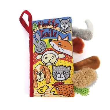 """Jellycat, książeczka ogonki """"Fluffy tails"""" 11x21 cm"""