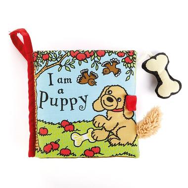 """Jellycat, książeczka """"I am a puppy"""" 16 cm"""