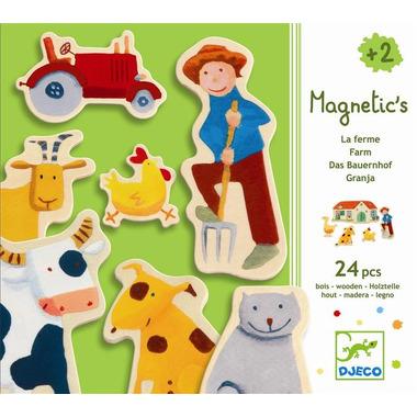 Djeco, drewniana układanka motywy z farmy z magnesami