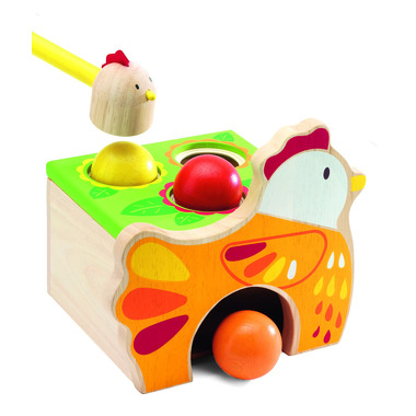 Djeco, zabawka do wbijania kulek Kurka
