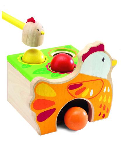 Zabawka do wbijania kulek Kurka Djeco