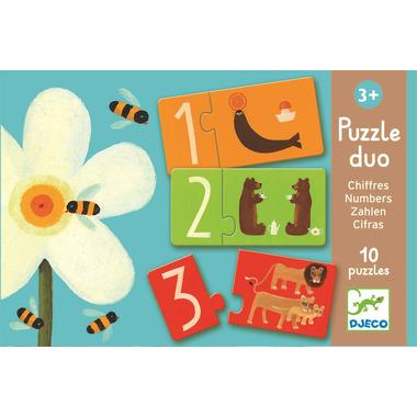 Djeco, puzzle edukacyjne liczby i litery
