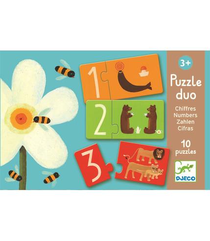 Puzzle edukacyjne liczby i litery Djeco