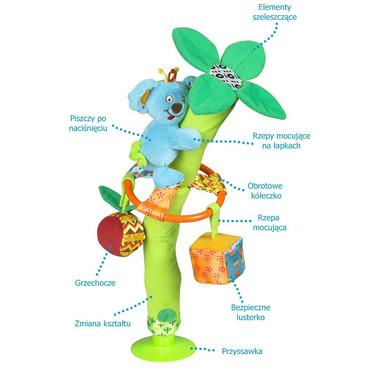 Palma na przyssawce z zabawkami