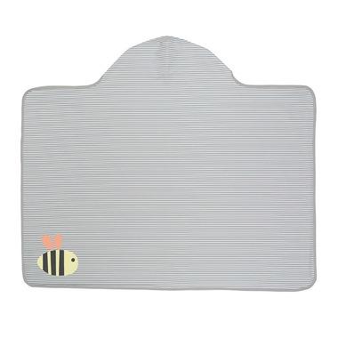 Lassig, Ręcznik z kapturem Bumble Bee 100x70 cm UV 50+