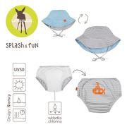 Lassig, Zestaw kapelusz i majteczki do pływania z wkładką chłonną Submarine UV 50+ 12mc