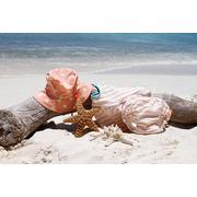 Lassig, Kostium do pływania dwuczęściowy z wkładką chłonną Sailor peach UV 50+ 36mc
