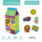 Mudpuppy, Zestaw drewnianych magnesów Keith Haring 35 elementów