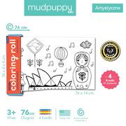 Mudpuppy, Kolorowanka w rolce 76 cm z 4 kredkami Dookoła świata