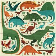 Mudpuppy, Puzzle podłogowe Jumbo Potężne dinozaury 25 elementów