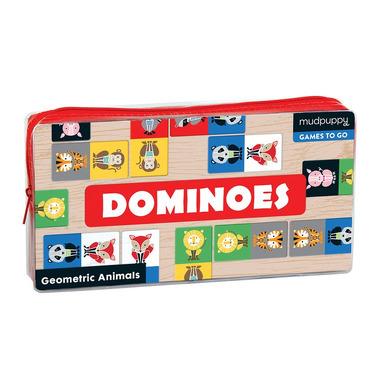 Mudpuppy, Gra Domino w podróżnym opakowaniu Geometryczne Zwierzęta