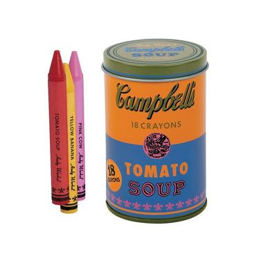 Mudpuppy, Kredki świecowe Andy Warhol 18 sztuk w pomarańczowej puszce