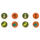 Mudpuppy, Gra Warcaby i Szachy w podróżnym opakowaniu Potężne dinozaury