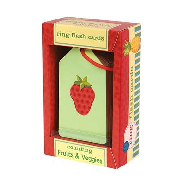 Mudpuppy, Karty do nauki cyferek i liczenia Fiszki Owoce i warzywa