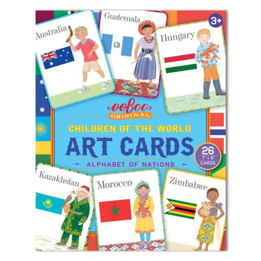 Eeboo, Art Cards Children of the World - karty do nauki j.angielskiego