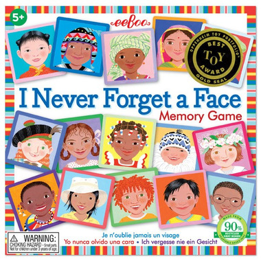 Eeboo, Gra I Never Forget a Face (znjadź pary, memo)