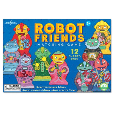 Eeboo, Gra Robot Friends (znajdź pary, memo)