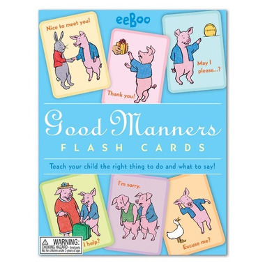 Eeboo, Karty do nauki Good Manners Dobre maniery