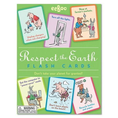 Eeboo, Karty do nauki Respect the Earth Szanuj Ziemię