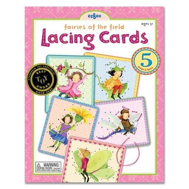 Eeboo, Lacing Cards Fairies of the field (przewlekanka)